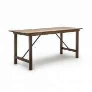A foldable pine wood bar table for restaurants, cafes and events