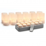 RECHARGEABLE FLICKER CANDLES